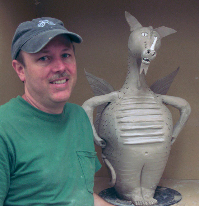 Troy Schmidt of Red Dragon Pottery at the Santa Barbara YES STORE 2014 !